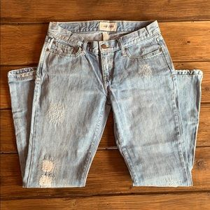Abercrombie and Fitch Light Wash Distressed jeans